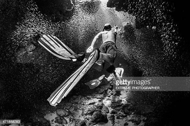 Apnea divers