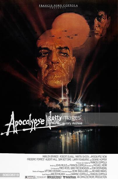 'Apocalypse Now' starring Marlon Brandon Robert Duval and Martin Sheen a 1979 American epic war film set during the Vietnam War