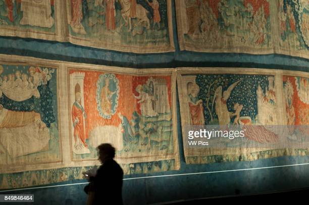 Apocalypse of Saint John tapestry in the Castle of Angers Angers Maine et Loire Vallye France