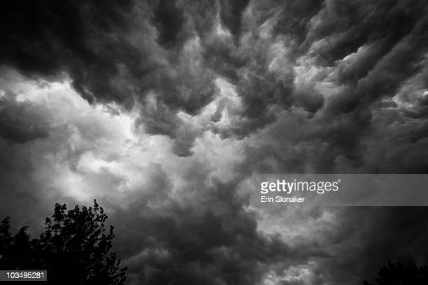 apocalyptic stormclouds - fairfax county virginia stock photos and pictures