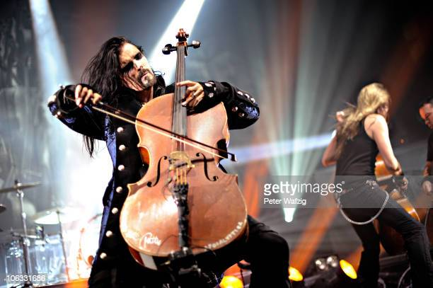 Apocalyptica perform on stage at the EWerk on October 28 2010 in Cologne Germany