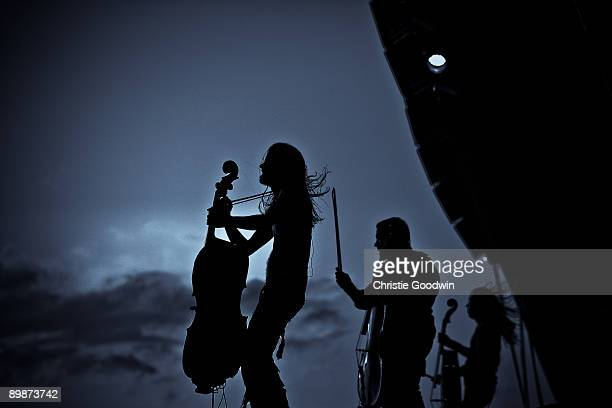 Apocalyptica perform on stage on the second day of Bloodstock Open Air festival at Catton Hall on August 15 2009 in Derby England