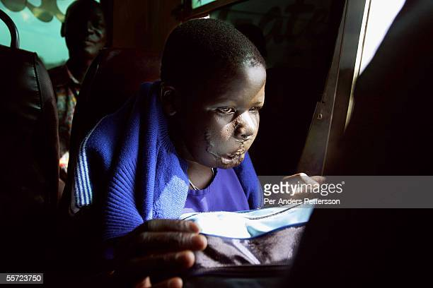 Apoko Evelyn age 14 travels on a bus from Lira to Gulu on August 6 outside Lira in Northern Uganda Apoko was abducted by the Lord's Resistance Army...
