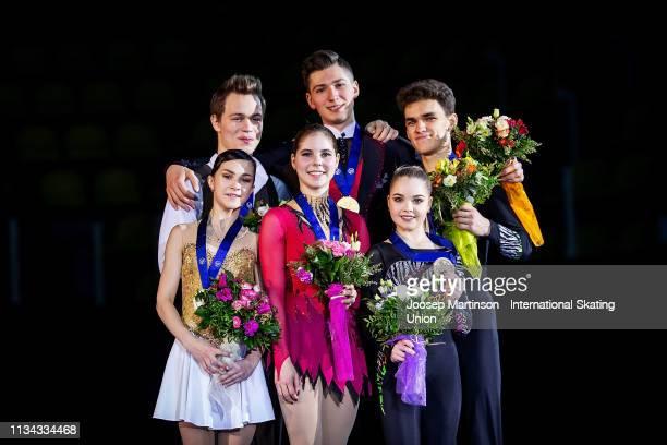 Apollinariia Panfilova and Dmitry Rylov of Russia Anastasia Mishina and Aleksandr Galliamov of Russia and Polina Kostiukovich and Dmitrii Ialin of...