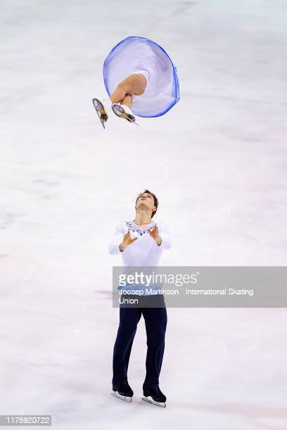 Apollinariia Panfilova and Dmitry Rylov of Russia compete in the Junior Pairs Free Skating during the ISU Junior Grand Prix of Figure Skating Baltic...