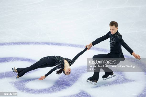 Apollinariia Panfilova and Dmitry Rylov of Russia compete in the Junior Pairs Short Program during the ISU Grand Prix of Figure Skating Final at...