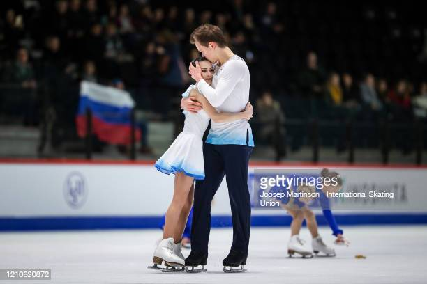 Apollinariia Panfilova and Dmitry Rylov of Russia compete in the Junior Pairs Free Skating during day 2 of the ISU World Junior Figure Skating...
