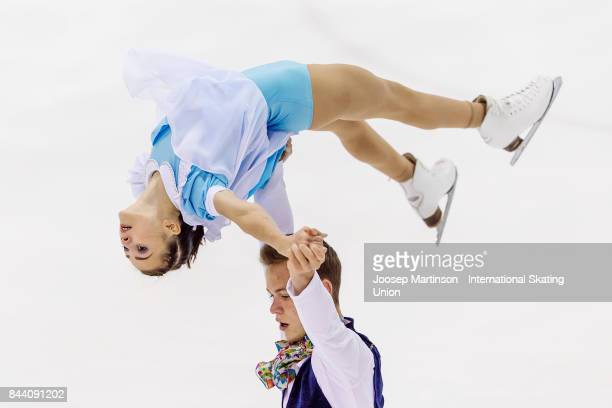 Apollinariia Panfilova and Dmitry Rylov of Russia compete in the Junior Pairs Free Skating during day 2 of the Riga Cup ISU Junior Grand Prix of...