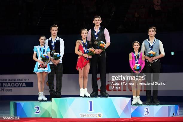 Apollinariia Panfilova and Dmitry Rylov of Russia , Ekaterina Alexandrovskaya and Harley Windsor of Australia and Daria Pavliuchenko and Denis...