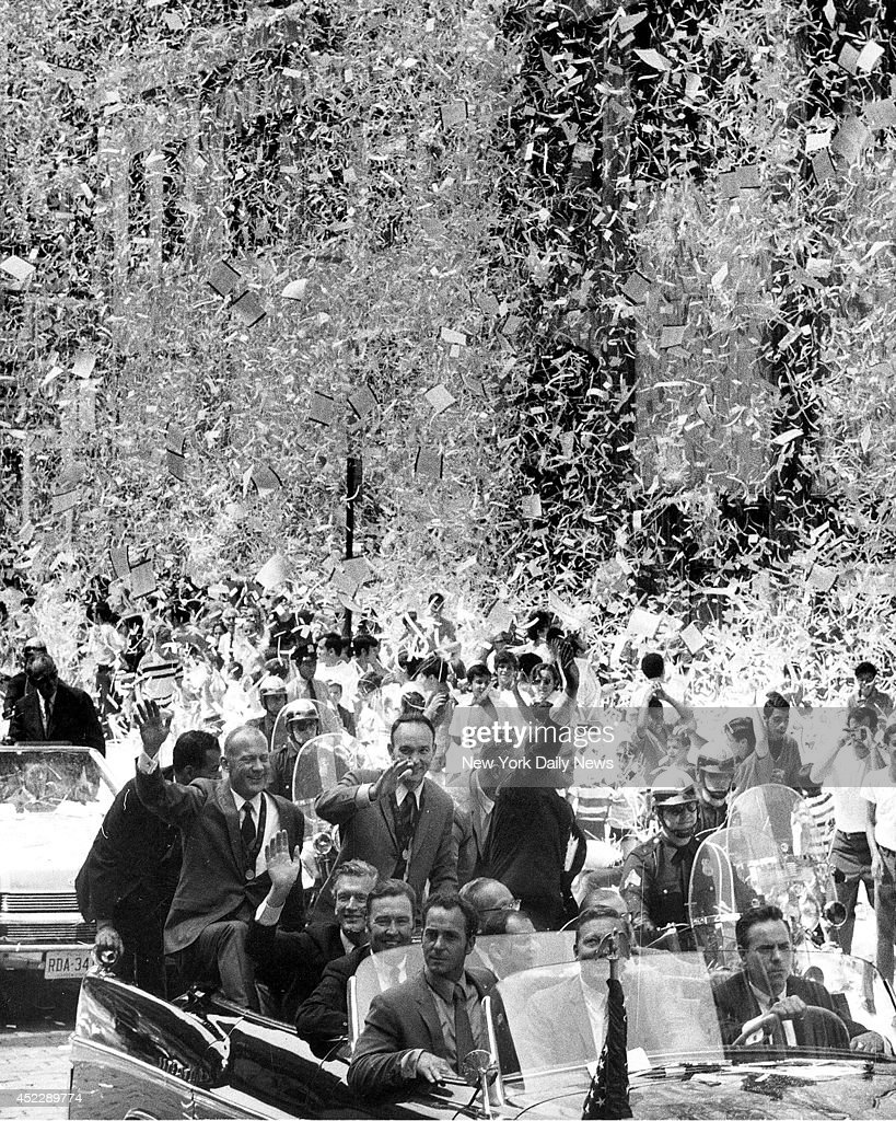 Apollio 11 Parade, The moon men get a warm welcome home as New Yorkers pile into the street to celebrate the Apollo 11 homecoming at the ticker-tape parade.