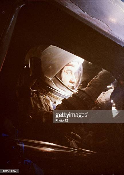 Apollo 1 mission Virgil I 'Gus' Grissom command pilot for the first manned flight of the Apollo moon spacecraft