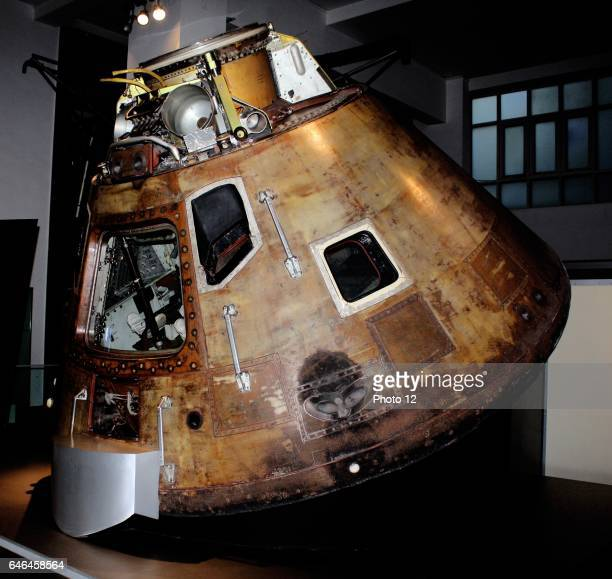 Apollo 10 Command Module Circa 1969 The capsule in which astronauts Tom Stafford John Young and Gene Cernan travelled around the moon in 1969 Apollo...