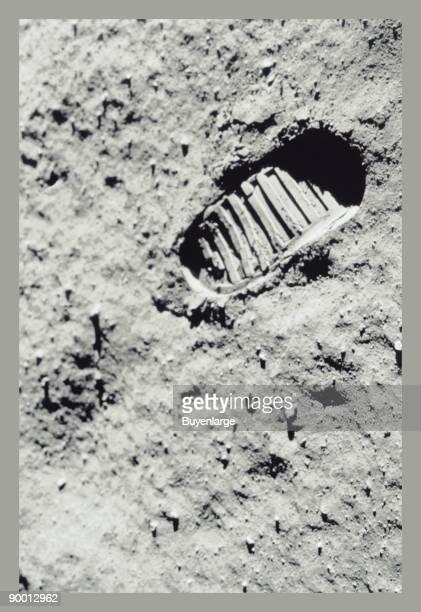 Apollo 11 astronaut Neil Armstrong's footprint on the moon