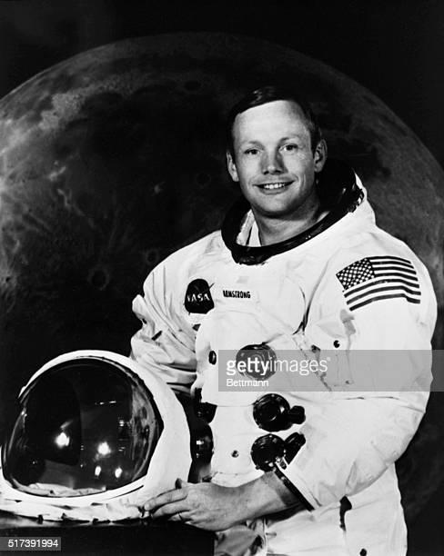 Apollo 11 Commander Neil Armstrong poses for a photograph
