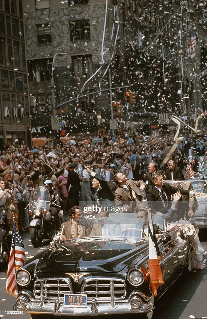 Apollo 11 Mission (from July 16th - 24th 1969). The 25th annivesary of the first successful mission to the moon Apollo 11 with the crew Neil Armstrong, Michael Collins and Edwin Aldrin in 1994 in New York City.