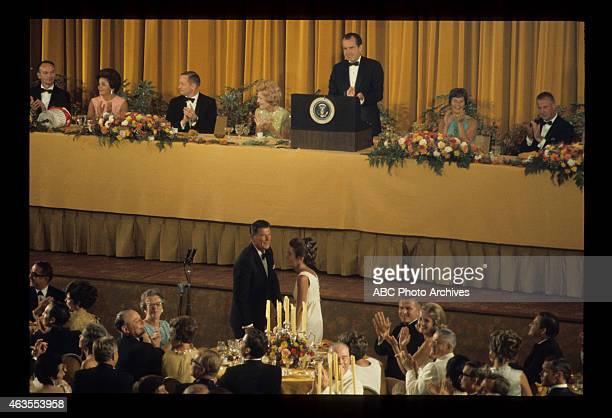 FLIGHTS Apollo 11 State Dinner Airdate August 13 1969 RONALD REAGANNANCY REAGAN BACKGROUND MICHAEL