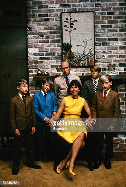 Apollo 12 astronaut Charles Conrad shown at home with wife Jane and sons Christopher 8 Andrew 10 Peter 14 and Thomas 12 He will be commander of the...