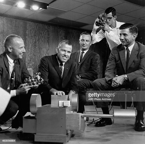 November 14 1969 JULES BERGMAN WITH PROJECT MERCURY ASTRONAUTS PETE CONRAD GORDON 'GORDO' COOPER