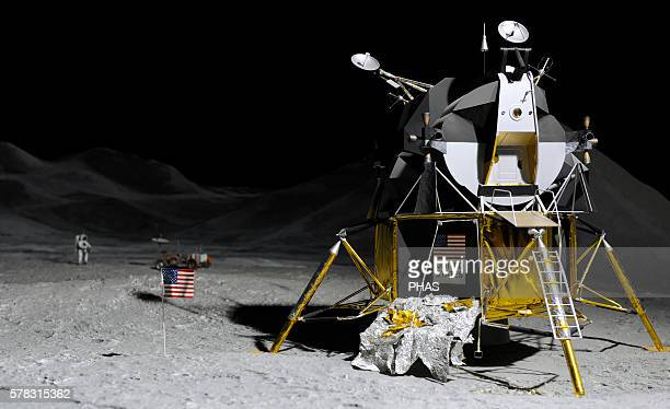 Apollo 15 Mission in the United State's Apollo progarm Lunar Roving Vehicle on the first lunar surface EVA of APollo 15 July 26 1971 Deutches Museum...