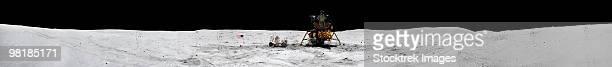Apollo 16 landing site in the lunar highlands.