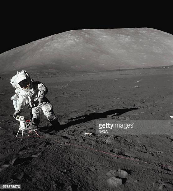 Apollo 17 Astronaut on the Moon