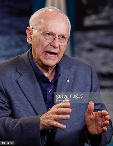 Apollo Astronaut Alan Bean of Apollo 12 speaks at NASA Headquarters on July 20 2009 in Washington DC Today marks the fortieth anniversary of the...