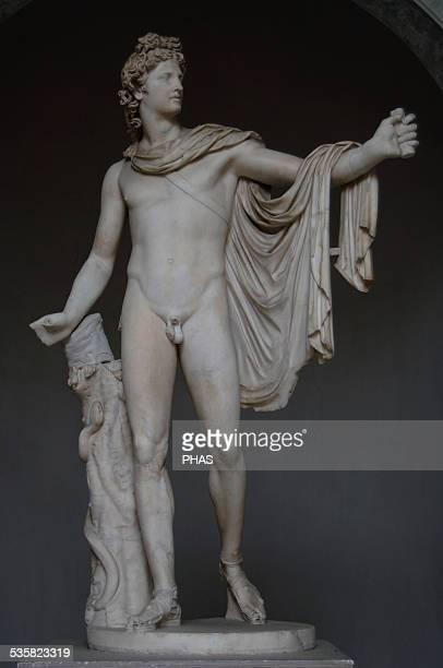 Apollo Belvedere Ca 120140 Roman copy of Greek bronze original of ca 350325 BC White marble Attributed to Leochares Vatican Museums Vatican City