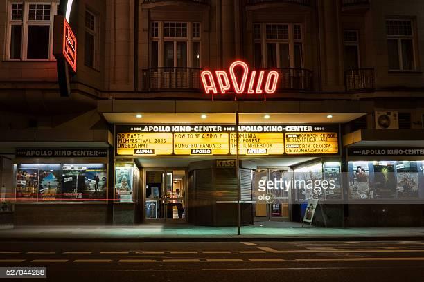 Apollo cinema center Wiesbaden at night