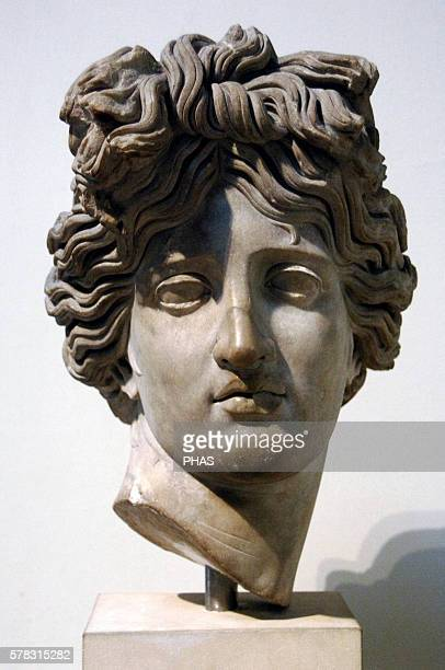 Apollo Head Marble 120140 AD From Palace of Justinian Rome British Museum London England United Kingdom