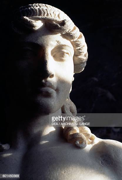Apollo of Mantua Roman copy from the statue of Polykleitos 5th century BC Roman civilisation 1st2nd century AD Detail Paris Musée Du Louvre