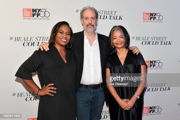 Apollo Theater executive producer Kamilah Forbes New York Film Festival director Kent Jones and Apollo Theater president Jonelle Procope attend the...