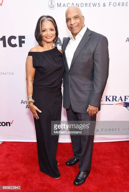 Apollo Theater President and CEO Jonelle Procope and Director Stan Lathan attend the Apollo Spring Gala 2017 at The Apollo Theater on June 12 2017 in...