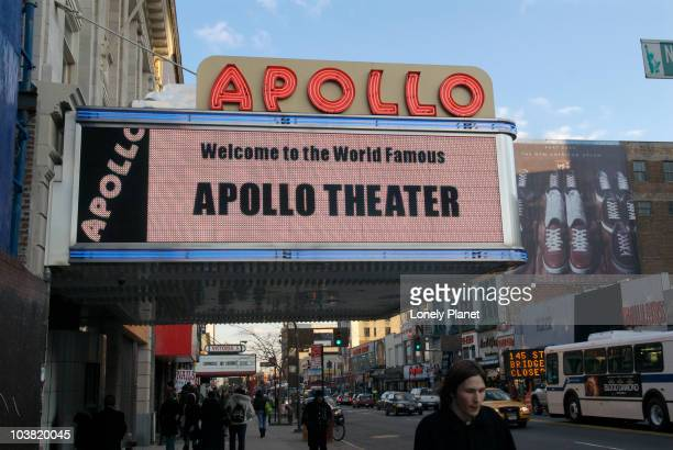 Apollo Theater sign in Harlem.