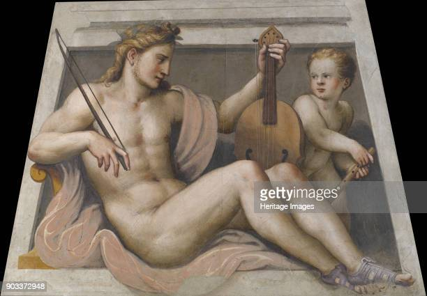 Apollo with cupid Found in the Collection of Pinacoteca Tosio Martinengo Brescia