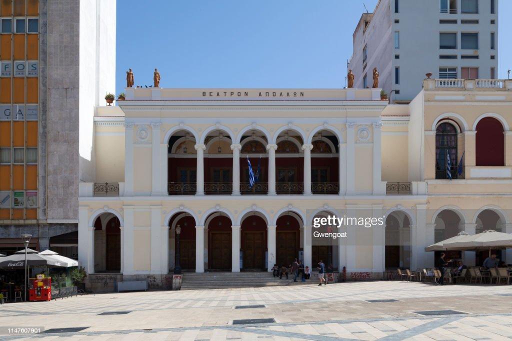 Apollon Theatre in Patras : Stock Photo
