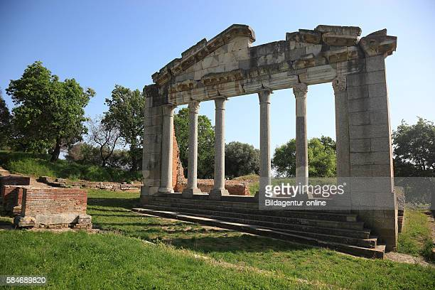 Apollonia Illyria a ancient greek city in Albania The Temple ruins Monument of Agonothetes