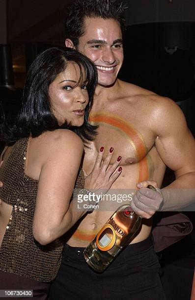 Apollonia Kotero and Bacardi O model during Salute to Johnny Grant Happy 80th Birthday Staged by the Hollywood Entertainment Museum Cocktail Party at...