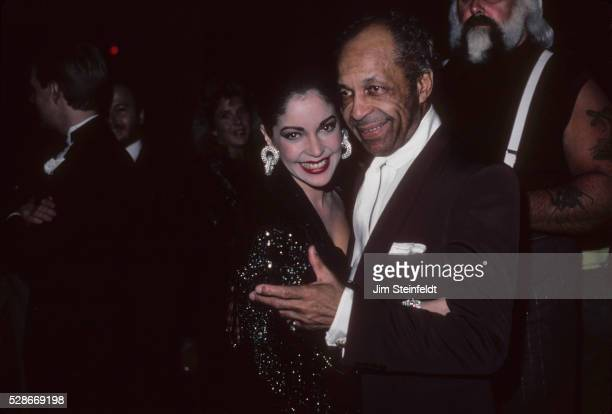 Apollonia Kotero and John Nelson at the Minnesota Music Awards in Minneapolis Minnesota in April 1987