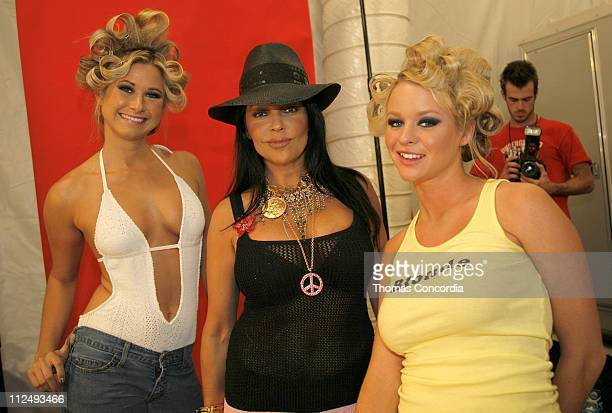 Apollonia Kotero and models backstage at Ashley Paige