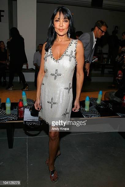 Apollonia Kotero attends the Jeremy Scott Spring 2011 fashion show during MercedesBenz Fashion Week at Milk Studios on September 15 2010 in New York...