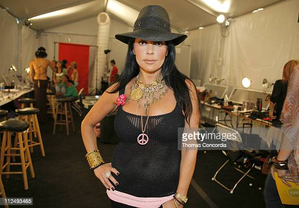 Apollonia Kotero backstage at Ashley Paige during MercedesBenz Spring 2007 LA Fashion Week at Smashbox Studios Ashley Paige Backstage and Front Row...