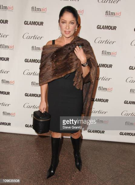 Apollonia Kotero during Glamour Reel Moments Short Film Series Presented by Cartier Arrivals at Director's Guild in Los Angeles California United...