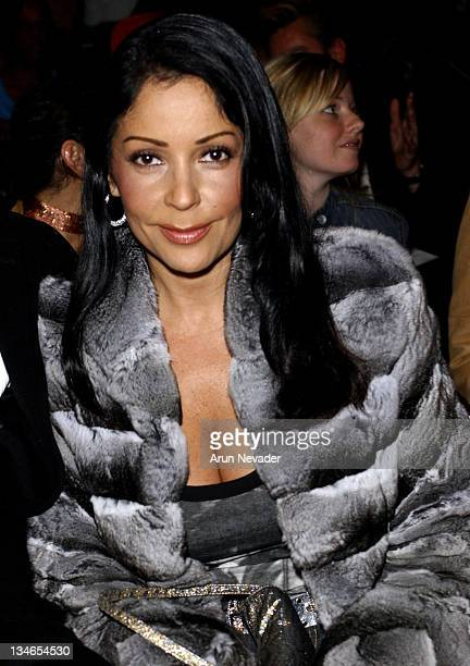 Apollonia Kotero during MercedesBenz Fall 2005 LA Fashion Week at Smashbox Studios Mason by Michelle Mason Front Row and Backstage at Smashbox...