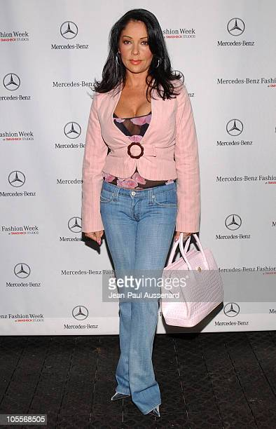 Apollonia Kotero during MercedesBenz Spring 2005 Fashion Week at Smashbox Studios Day 4 Arrivals at Smashbox Studios in Culver City Califonia United...