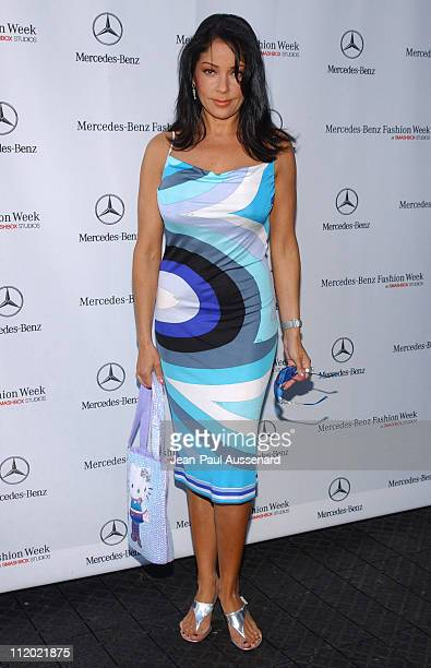 Apollonia Kotero during MercedesBenz Spring 2005 Fashion Week at Smashbox Studios Day 5 Arrivals at Smashbox Studios in Culver City California United...