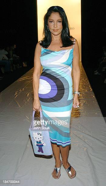 Apollonia Kotero during MercedesBenz Spring 2005 Fashion Week at Smashbox Studios Eduardo Lucero Front Row at Smashbox Studios in Culver City...