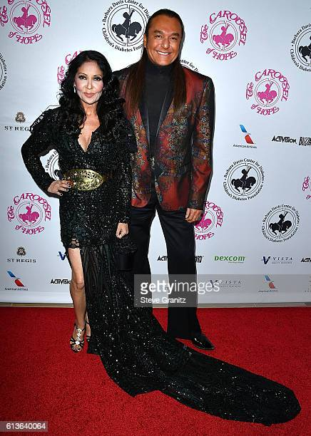 Apollonia KoteroNick Chavez arrives at the 2016 Carousel Of Hope Ball at The Beverly Hilton Hotel on October 8 2016 in Beverly Hills California