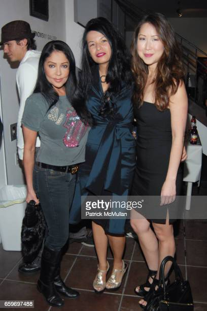 Apollonia Merry Karnowsky and Serena Yang attend TODD SCHORR ART OPENING AT MERRY KARNOWSKY GALLERY HOSTED BY DAVID ARQUETTE at MERRY KARNOWSKY...