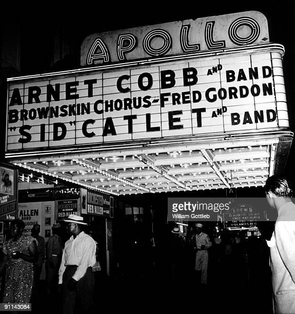 Apollow Theater marquee circa 1947 Harlem New York City