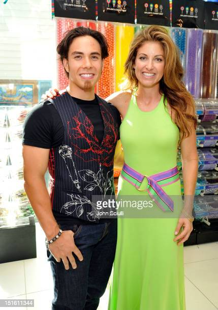 Apolo Anton Ohno and CEO/Founder Dylan Lauren attend the Dylan's Candy Bar Los Angeles Opening at Original Farmers Market on September 8 2012 in Los...